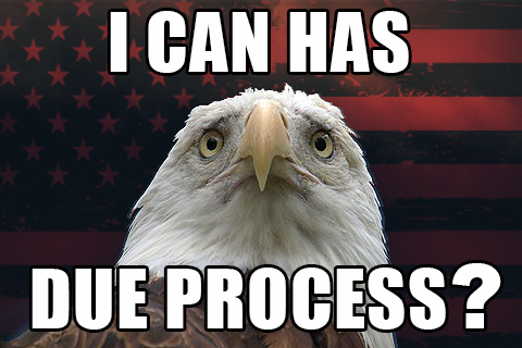 Preserve the right of Due Process