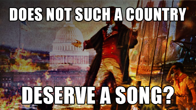 The star Spangled Banner was written in response to the British attack os the War of 1812