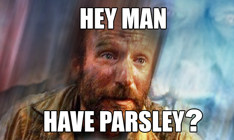 Homeless ask for parsley